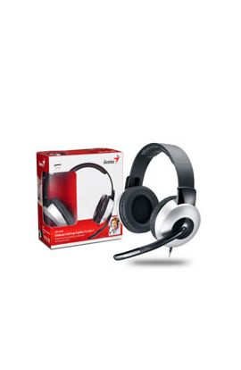 MICROCASQUE GENIUS HS-05A, full size headset w/Roll-up cable