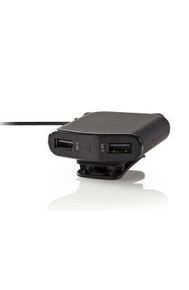 CHARGEUR de Voiture 9.6 A, 4 sorties, USB-A - Noir