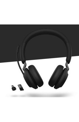 JABRA MICROCASQUE Evolve2 65 - USB-A MS Teams Stereo - Black