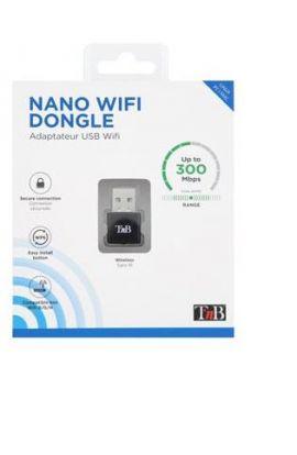 ADAPTATEUR USB 2.0 Wifi Nano Dongle 300Mbps - noir