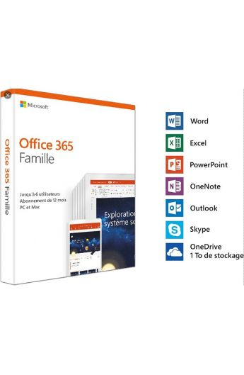 MICROSOFT 365 FAMILLE 1 YR/6 USERS ESD