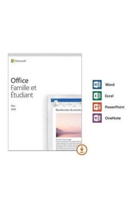 MICROSOFT OFFICE FAMILLE & ETUDIANT 2019 PC/MAC ESD